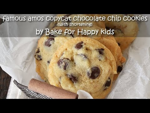CopyCat Famous Amos Chocolate Chip Cookies with Shortening