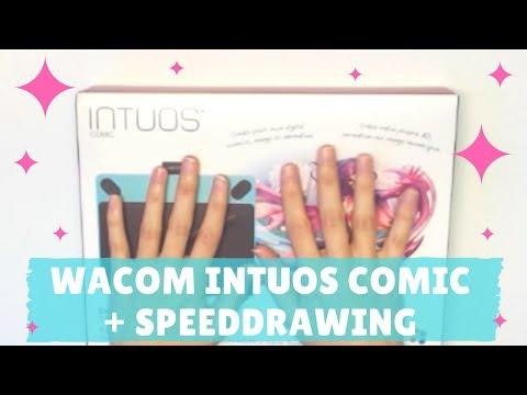 【WACOM】 Intuos Comic Tablet Unboxing + SpeedDrawing (ENG/ESP)