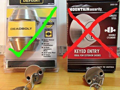 DEFIANT DEADBOLT EXTERIOR DOOR LOCK PICKED OPEN & Compare to Mountain Security Deadbolt Lock