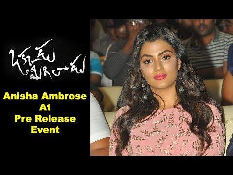 Anisha Ambrose Speech at Okkadu Migiladu Pre Release Event