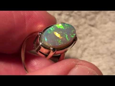 Gold Ring 333 mit Traumhaftem Blackopal
