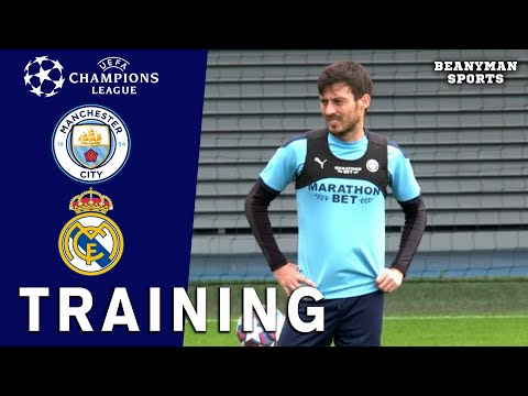 Man City Players Train Ahead Of Champions League Clash With Real Madrid