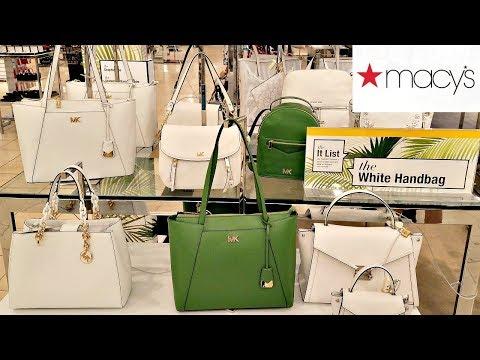 Shop With ME MACY'S NEW WHITE SUMMER HANDBAGS MICHAEL KORS DOONEY AND BOURKE WALK THROUGH 2018