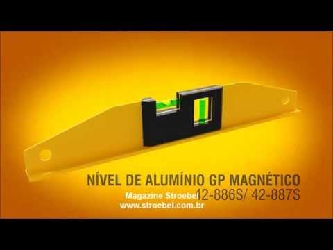 Nível de Alumínio GP Magnético Stanley 42-886S e 42-887S