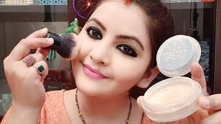 Colorbar Flawless Air Brush Finish Loose Powder Demo | Bridal Makeup Product For All Skin Type| RARA