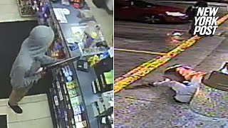 7-11 robber killed by officer who randomly showed up on the scene   New York Post