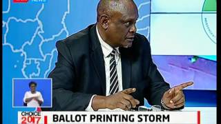 Ballot papers printing storm heats up as IEBC put their foot down on the matter: Choice 2017