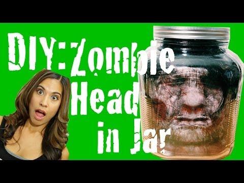 DIY Zombie Head in Jar