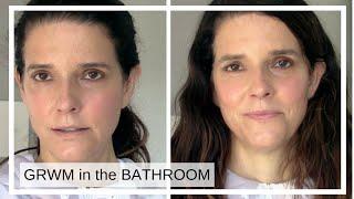 GRWM in the BATHROOM/ Full Face of Kosas + Kjaer Weiss