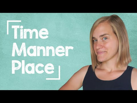 German Lesson (68) - Word Order - Part 3: Time Manner Place - A1/A2