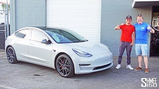 Alex Choi Reveals the Tesla Model 3 GADGET OVERLOAD!