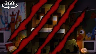 360° Five Nights At Freddy's BREAK IN! - Springtrap's DEMISE! #6 - Minecraft 360° Video
