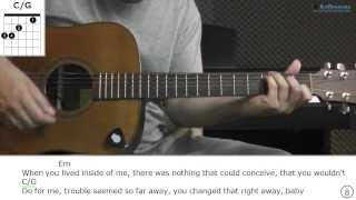 How to play Love Don't Live Here Anymore with City And Colour (Acoustic live version)