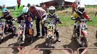 preview picture of video 'Motocross-Rennen  Klasse 1 - 50ccm - MSC-Eichenried Kindercross 2013'