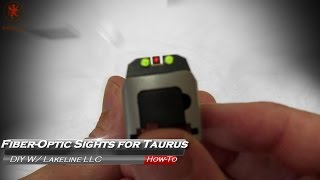 Fiber Optic Sight for Taurus by LakeLine LLC