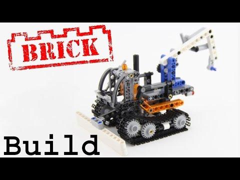 Vidéo LEGO Technic 42032 : La chargeuse compacte sur chenilles