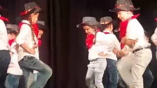 Kids Dance With Cowboy
