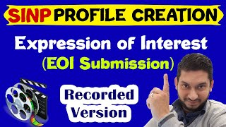 SINP Profile Creation | EOI Submission 2020| No job offer required