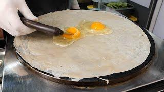 홍대 지엔빙 / chinese style cheese egg pancake / korean street food
