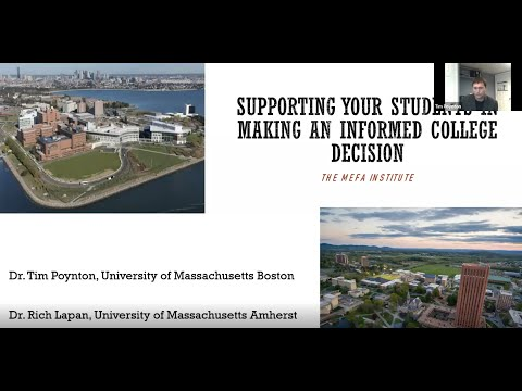 The MEFA Institute: Supporting Your Students in Making an Informed College Decision