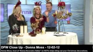 Donna Moss Of Donna Decorates Dallas Home Decorating How-To Christmas