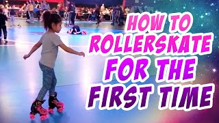 THIS KID IS LEARNING TO ROLLER SKATE FOR THE FIRST TIME