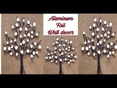 Diy/Aluminum Foil Wall Art/Fashion Pixies//unique  Tree Wall Decor/Diy Wall Hanging Craft