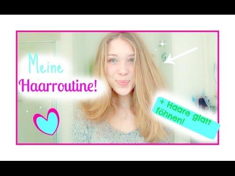 Haarpflege Routine Haare Glatt Föhnen Marielle Jeanne