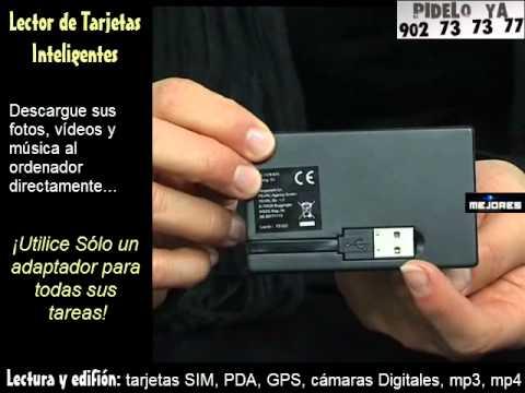 Lector de tarjetas inteligentes - firma electrónica, copia SIM, Micro SD, etc.