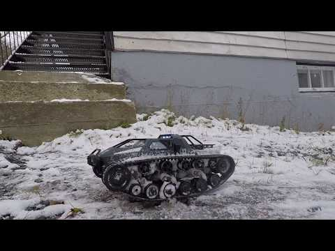 RC Tank SG 1203 1/12 2.4G Nice Cheap RC First Test in the Snow