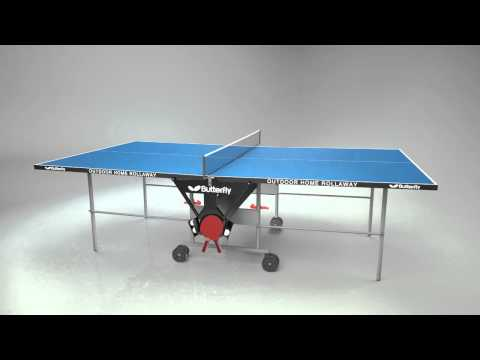 Butterfly Outdoor Home Rollaway Table Tennis Table
