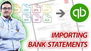 Importing Bank Statements into QuickBooks using PDF Bank Statements or CSV files