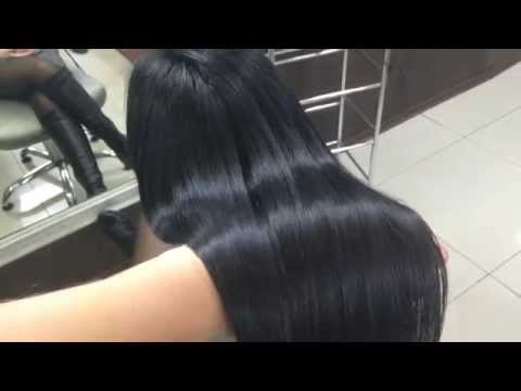 Scolor#29 Окрашивание корней в черный Coloring hair in black, keratin complex infusion