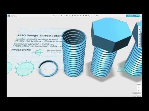 Building UNC threads in Autodesk 123D design