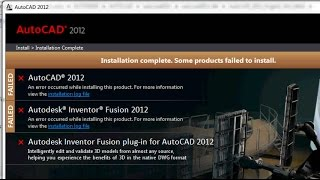 How to Fix Installation Failed Error on AutoCad 2012