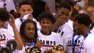 Memphis Grizzlies celebrate their 2019 NBA Summer League championship