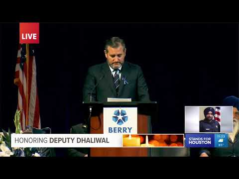 Sen. Cruz Delivers Remarks During Funeral for Deputy Sandeep Dhaliwal