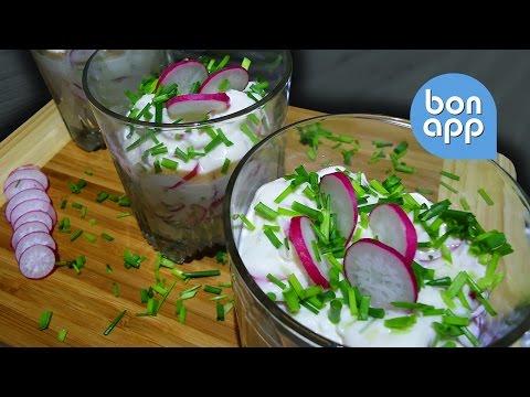 Закусочные стаканы с редисом и козьим сыром - Оригинальные рецепты
