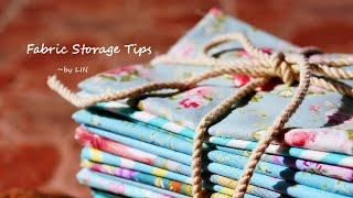 How To Fold And Store Your Fabric / Fabric Storage Tips #HandyMum