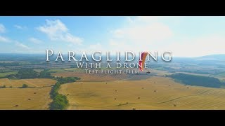 Up Trango X-race, Paragliding with the Drone Test Run!