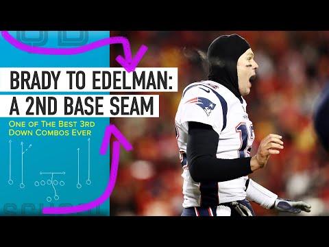 AFC Championship: Tom Brady to Julian Edelman On A Big Third Down