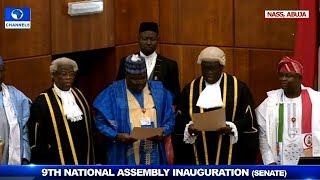Lawan Takes Oath Of Office As Senate President