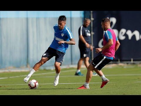 El Málaga entrena con Juankar e Hicham entre algodones