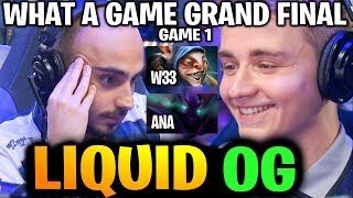 LIQUID vs OG (Game 1) COMEBACK & COMEBACK! What a Grand Final TI9 Dota 2