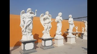 Outdoor Marble Stone Angel Statues And Lion Statues In Stock For Home Garden Decor Suppliers