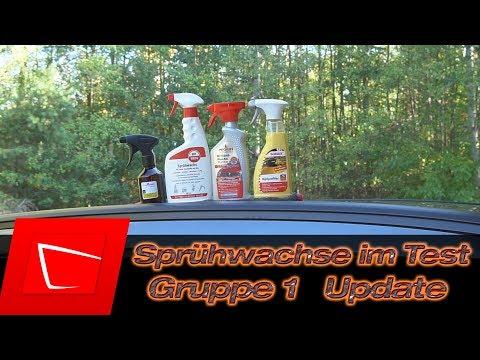 Auto Sprühwachs Vergleich Teil 2 - Rotweiss, Nigrin, Sonax und PolishAngel Rapidwaxx im Test