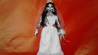 como vestir esqueleto de papel o calaverita     novia       peticion