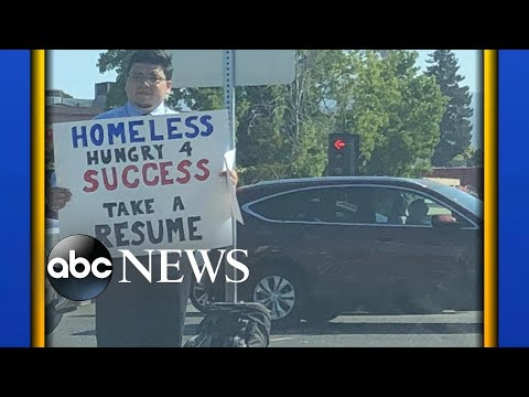 Google News - Homeless man hands out Resume - Overview