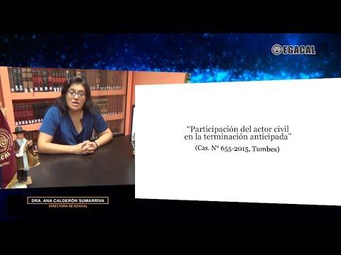 Participación del actor civil en la terminación anticipada - Luces Cámara Derecho 111