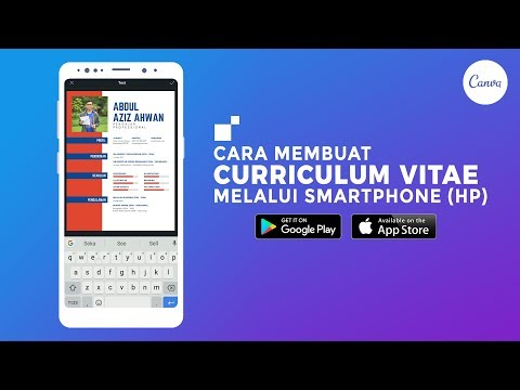 Cara Membuat CV Portofolio Keren Di HP Smartphone Android IOS - Canva.com [ Tutorial Indonesia ] Mp3